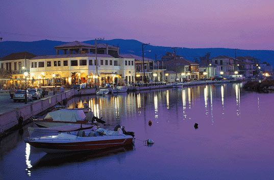 Lefkada town, western side of the port