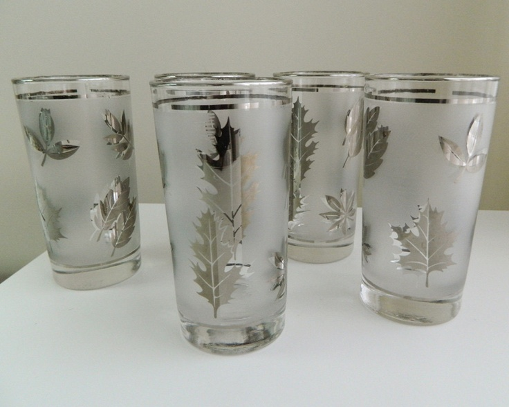 Libbey Silver Leaf Drinking Glasses