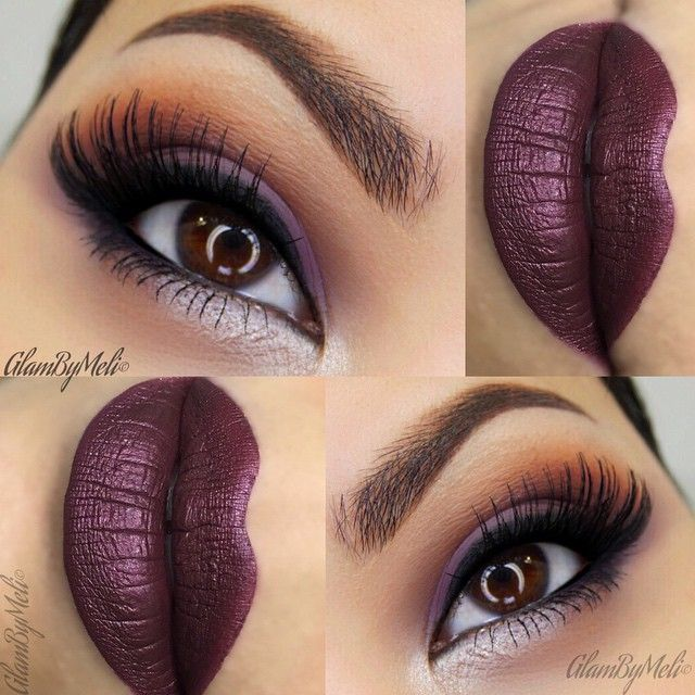 Valentine's Day Makeup Ideas: Purple Smokey Eyes with Deep Plum Lips | Glam By Meli #makeup #valentinesday #makeupideas