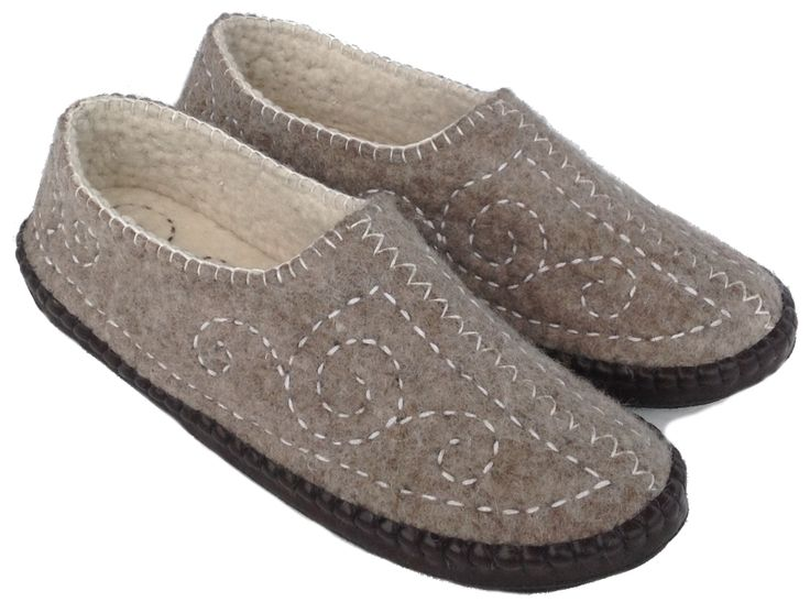 These unique fair trade felt slippers are handmade from high quality, Mongolian sheep wool with an soft leather sole.  This particular model has extra thick comfort layer in the sole and are just so comfortable to wear.  Select shoe size above: 6 - 9 (NZ and Aust) and matching foot size in cms. Measure from very back of your heel to the tip of your longest toe - measure both feet and use the longest.  Also see related products for smaller sizes.  Buy now from Loyal Fair Trade Store