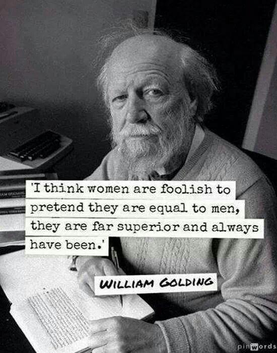 William Golding quote on women
