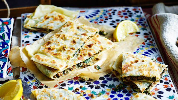 Lamb, silverbeet and feta gözleme recipe : SBS Food