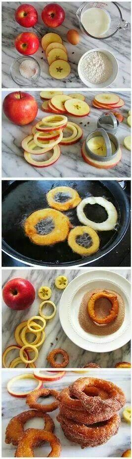 Tutoriales y DIYs: Receta: Aros de manzana