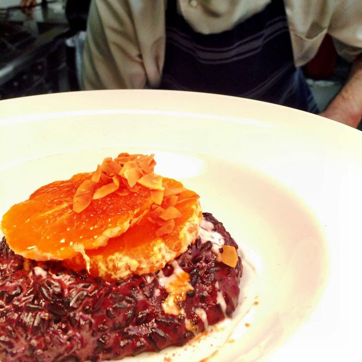 Milk and Honey monthly Chef Cooks. First Friday of every month indulge in a 3 course set menu for $35pp. Menu announced on the day.  July 2015 dessert = Sticky black rice, coconut cream, mandarins!  www.themilkandhoney.co.nz