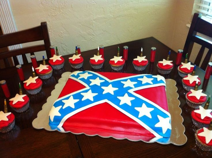 Rebel Flag Cake. My Boyfriend would love this cake for his birthday.