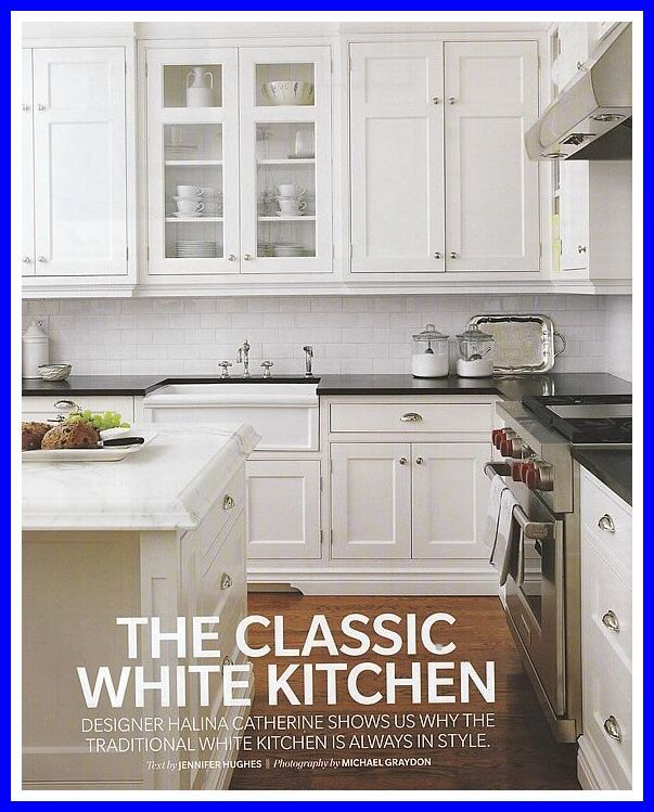 70 Reference Of Farmhouse Kitchen White Cabinets Black Countertops 2020