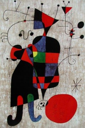 Joan Miro slide show My wife's brother gave a Joan  Miro of similar style to their mother back in the early sixties
