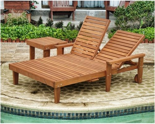Best Redwood Double Summer Chaise Lounge   Outdoor Chaise Lounges At  Hayneedle