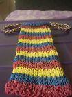 Rainbow loom purse - http://crafts.goshoppins.com/kids-crafts/rainbow-loom-purse-2/