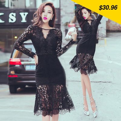 This is nice, check it out! Women dress Ruffles Slim Full Sleeve Hollow Out Lace Backless Pearl Decoration Package Buttocks Dresses White Black 8218 - $30.96 http://shoppingcenter5.com/products/women-dress-ruffles-slim-full-sleeve-hollow-out-lace-backless-pearl-decoration-package-buttocks-dresses-white-black-8218/