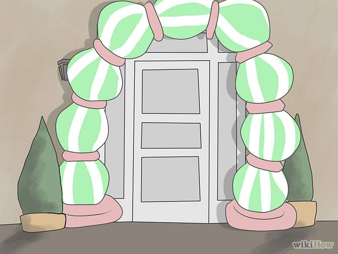 how to build a beach ball arch