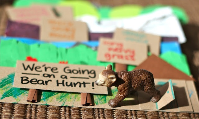 Art activities for we're going on a bear hunt