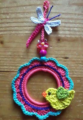 mini kransje - mini wreath (gratis Nederlands haakpatroon)