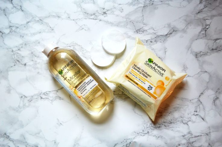 Garnier Oil Micellar water and wipes