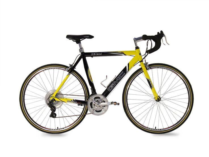 The 700c GMC Denali Men's #Road #Bike is built around a lightweight aluminum road bike frame
