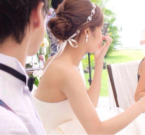 [お譲り] リボンカチューシャ ※受付終了 の画像 mikanはなよめ日記 *Hawaii Wedding Note*