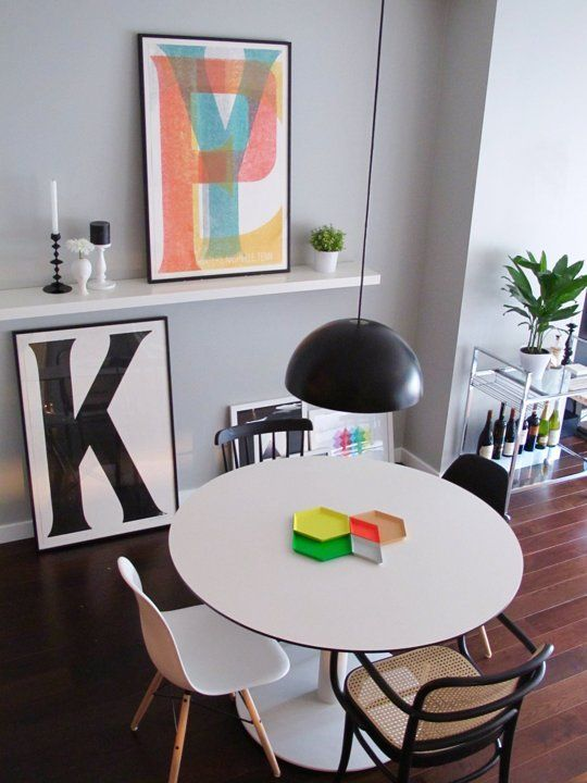"Dining space ideas... Kristen's ""High-Low Mix"" — House Call 