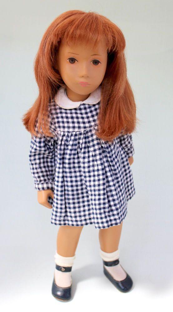 Sasha Doll: Very rare pale redhead Gotz/Goetz from 1960s with original dress #Gtz #Dolls