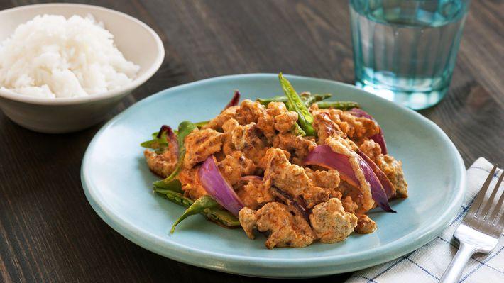 MatPrat - Rask thaicurry med kjøttdeig av svin