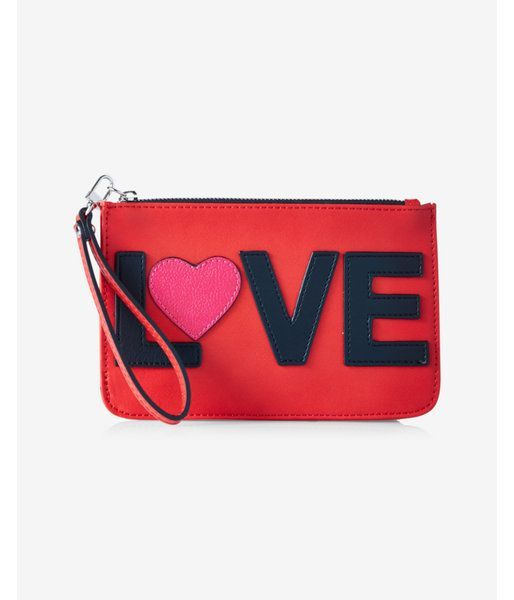 Love Zip Up Wristlet Women's Red