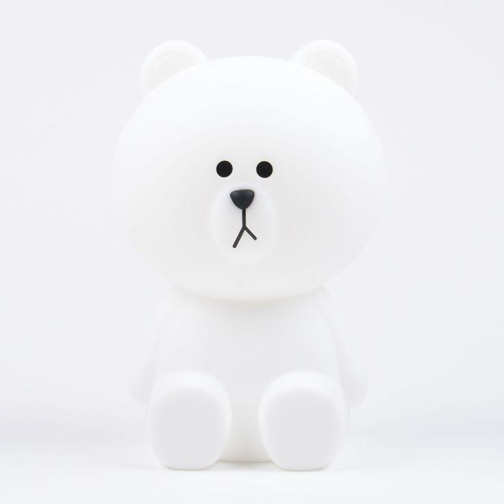 """Mr Maria """"Brown"""" kleine weiße Bären-Lampe"""