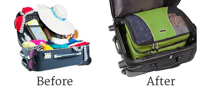 Before and after packing cubes. Ebags packing cubes are super useful travel accessories, which help you to organize your clothes in your luggage.   Does it live up to the hype? eBags Packing Cube Review: http://www.thetravelgearreviews.com/ebags-packing-cube-review #travel