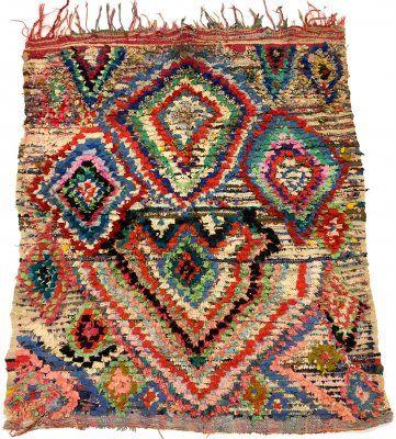 Marokkaanse+Berber+tapijt+Boucherouite+170+x+140+cm