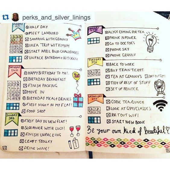 How adorable are these #banners from @perks_and_silver_linings. I love her dailies. bullet journal