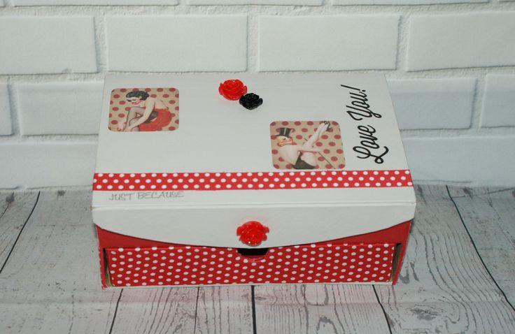 boite à bijoux Pin up rétro 50's : Presentoir, boîtes par pom-et-reinette