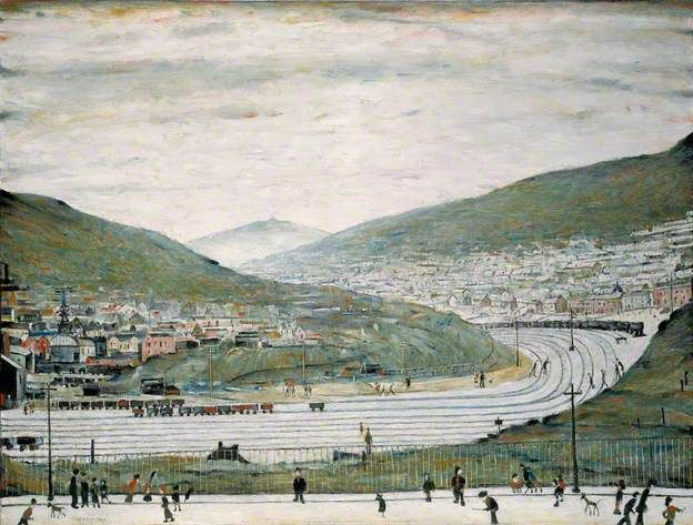Six Bells, Abertillery, South Wales by Laurence Stephen Lowry Amgueddfa Cymru – National Museum Wales Date painted: 1962 Oil o...