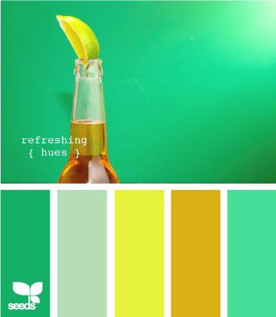 Los colores que presentamos transmiten sensaciones de jovialidad y frescura, ya que se presentan en sus tonas más claros, es bueno mezclar colores fríos y cálidos, de este modo se logra un balance de temperatura en el espacio