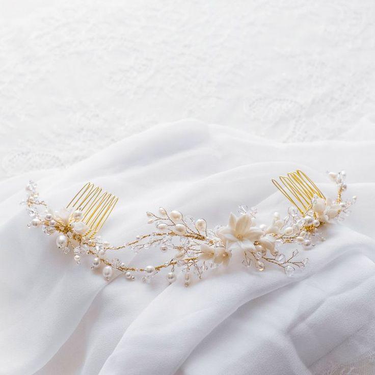 ЖАСМИН | Цветочный жемчуг свадебный головной убор
