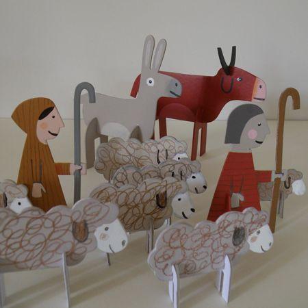 nativity-scenes -- cardboard (but could be fun foam)