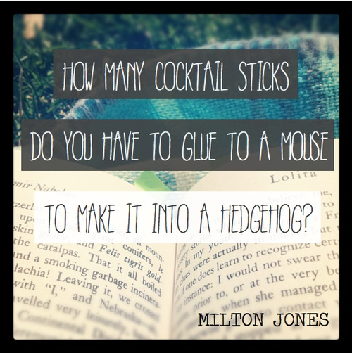 Milton jones Oh my...