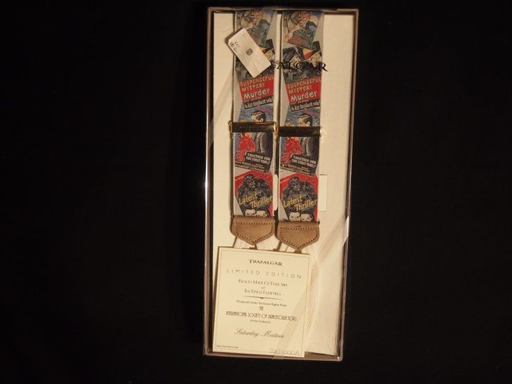 "RARE Trafalgar LIMITED EDITION Pure Silk #braces Suspenders - ""Saturday Matinee"" #Trafalgar"