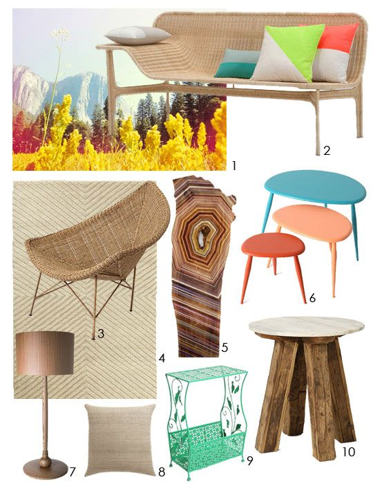 Adrienne's Neon Nature Mix Dream Living Room: Decor Ideas, Rec Rooms, Dreams Living Rooms, Natural Materials, Adrienne Neon, Neon Natural, Natural Mixed, Living Rooms Inspiration, Apartment Therapy Living Rooms