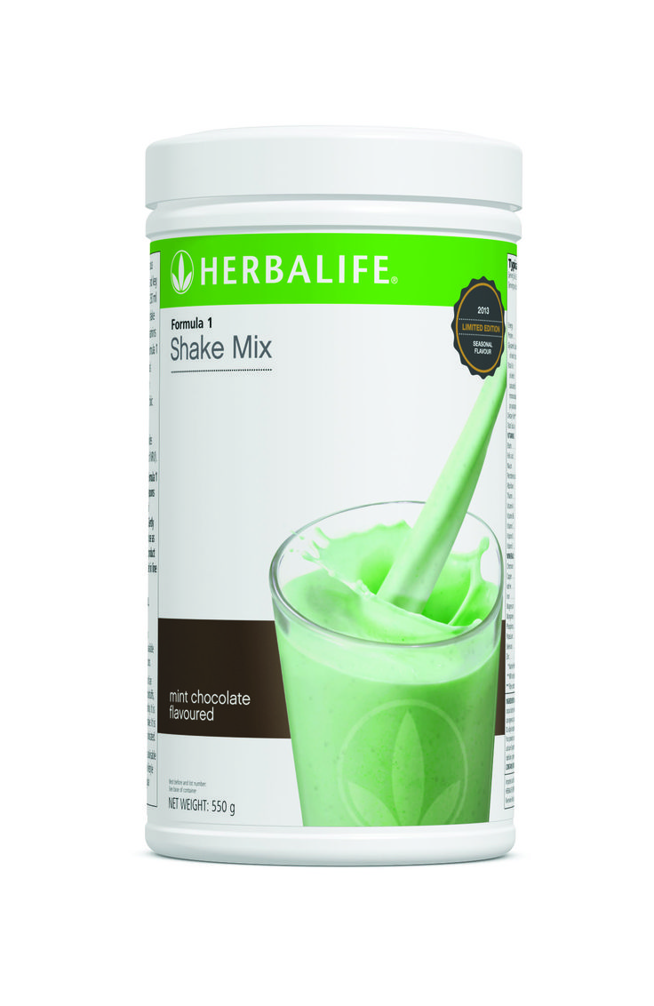 Lunch never tasted this good before - Formula 1 Choc Mint Shake beats a Magnum Mint anyday!