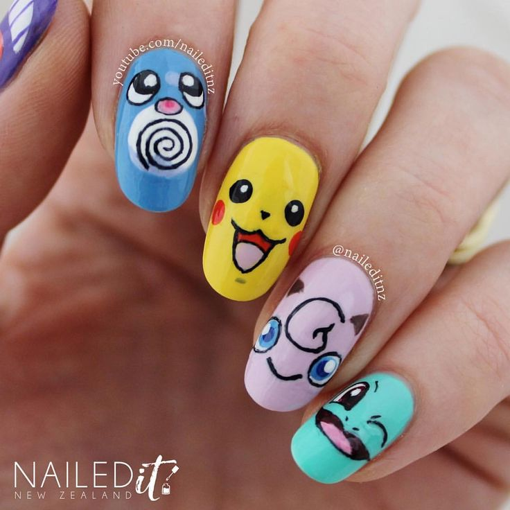 122 Nail Art Designs That You Won T Find On Google Images: 1000+ Ideas About Pikachu Nails On Pinterest