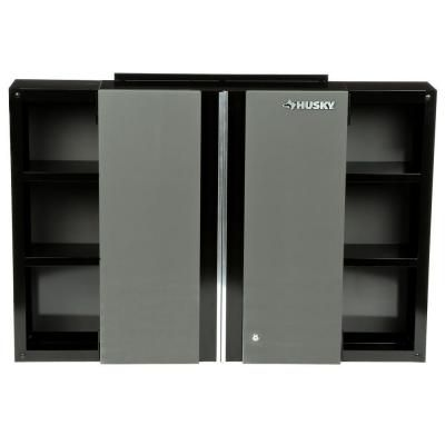 Husky 48 in wall cabinet 48wc01bp thd the home depot Home depot husky garage cabinets