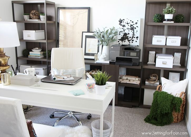 Home Office Furniture Ideas With Storage Setting For Four Blog Layout Design