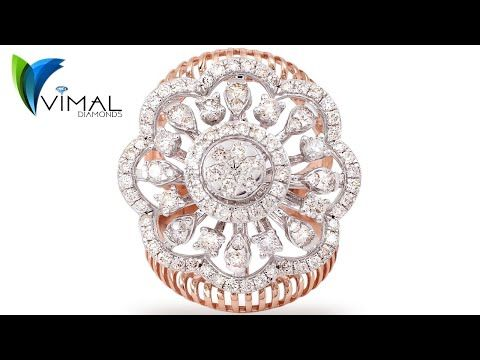 Lr16010 Flower S Shape Diamond Ring By Vimal Diamonds Karol Bagh N Delhi Youtube In 2020 Ladies Diamond Rings Unique Diamond Rings Women Rings