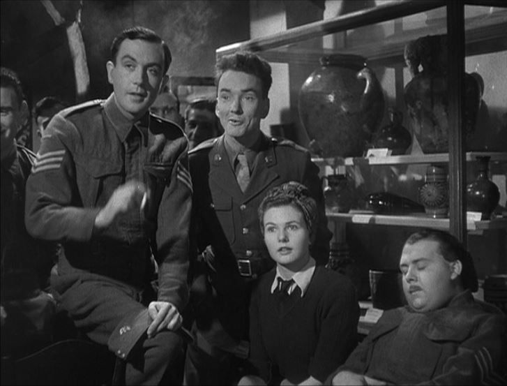 Dennis Price, Sgt.John Sweet, and Sheila Sim in A Canterbury Tale 1944