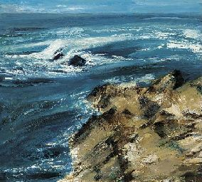 Rocks and sea  Lot 183  Price Realized $1,426 oil on canvas  36 x 40 in. Christies Sale 9332  British, Victorian and Scottish Pictures  7 March 2002  London, South Kensington  http://www.zaidan.ca/Art_Gallery/Perpetua_Pope/Perpetua-Pope.htm