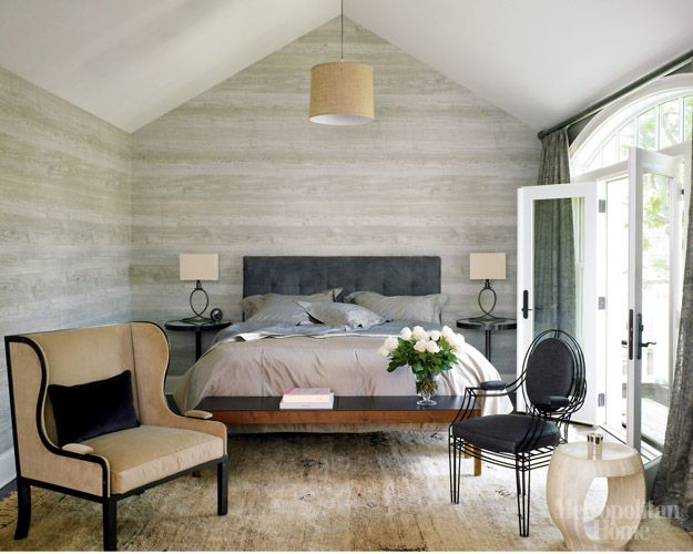 Lovely Gray Faux Wood Wallpaper