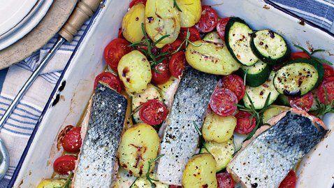 Salmon Tray Bake - RTE Food