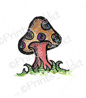 Best 25 mushroom tattoos ideas on pinterest caterpillar for 13th floor tattoo shop