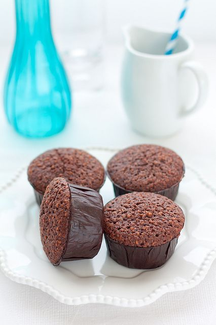 Friands al cioccolato e nocciole by fiordifrolla, via Flickr