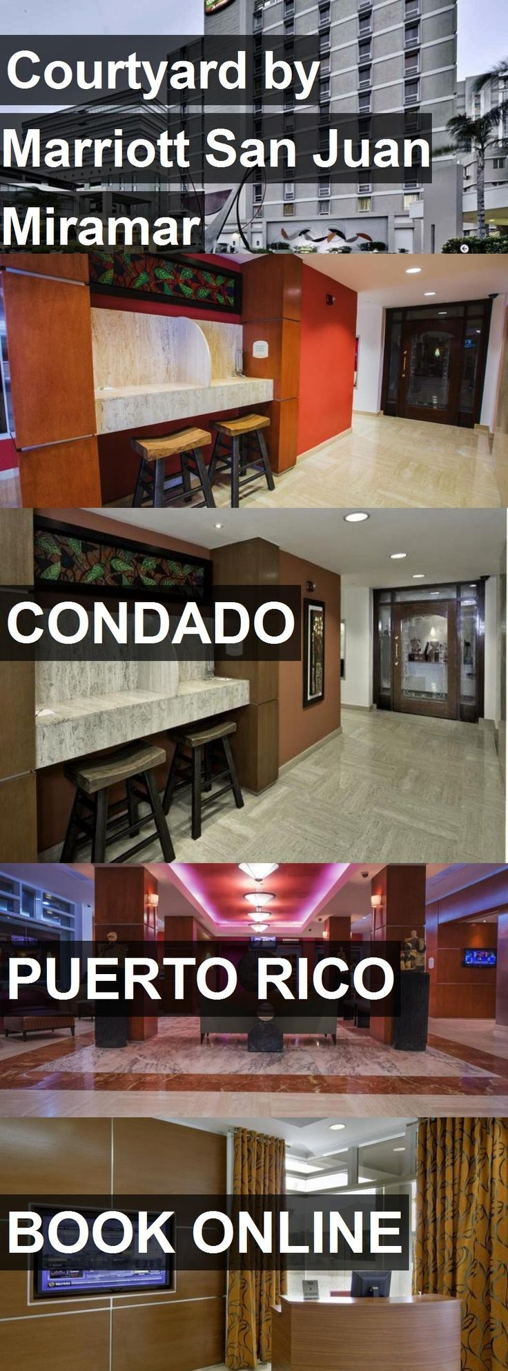 Hotel Courtyard by Marriott San Juan Miramar in Condado, Puerto Rico. For more information, photos, reviews and best prices please follow the link. #PuertoRico #Condado #travel #vacation #hotel