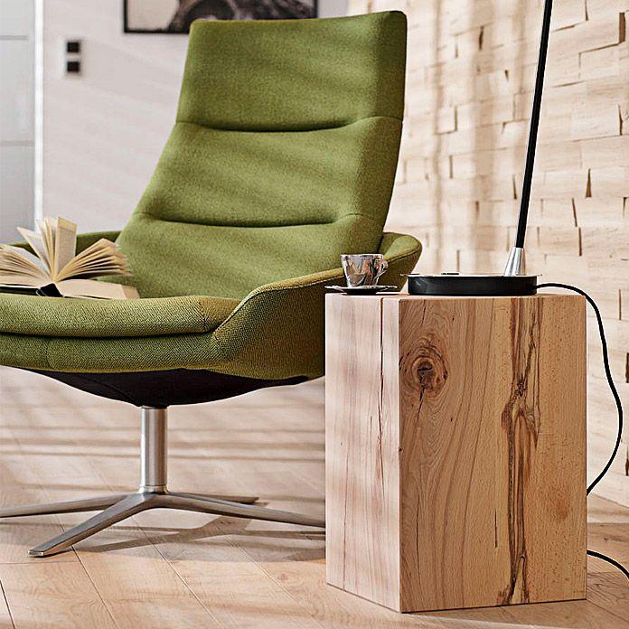 Noblewood Massivholzblock Buche 30 X 30 X 45 Cm Massivholz Tischplatte Unbehandeltes Holz Leimholz