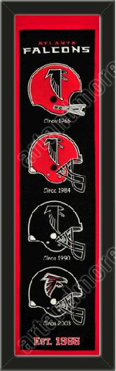 This Atlanta Falcons heritage banner framed to 8 x 32 inches.  $89.99 @ ArtandMore.com